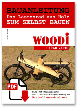 Lastenrad Fahrrad Holz cargo ebike diy bauen bauanleitung