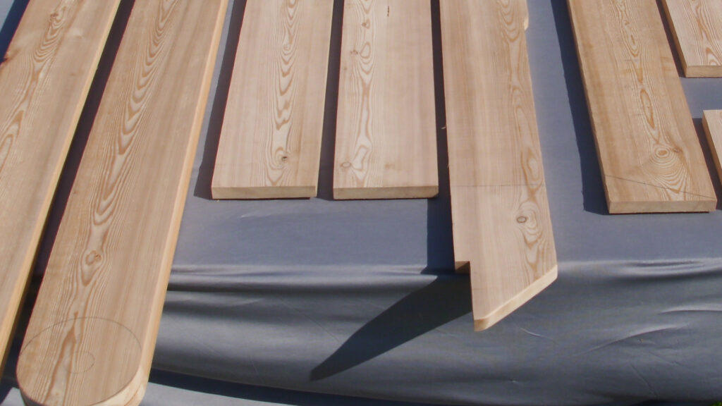 Lastenrad Holzrahmen sibirische Lärche