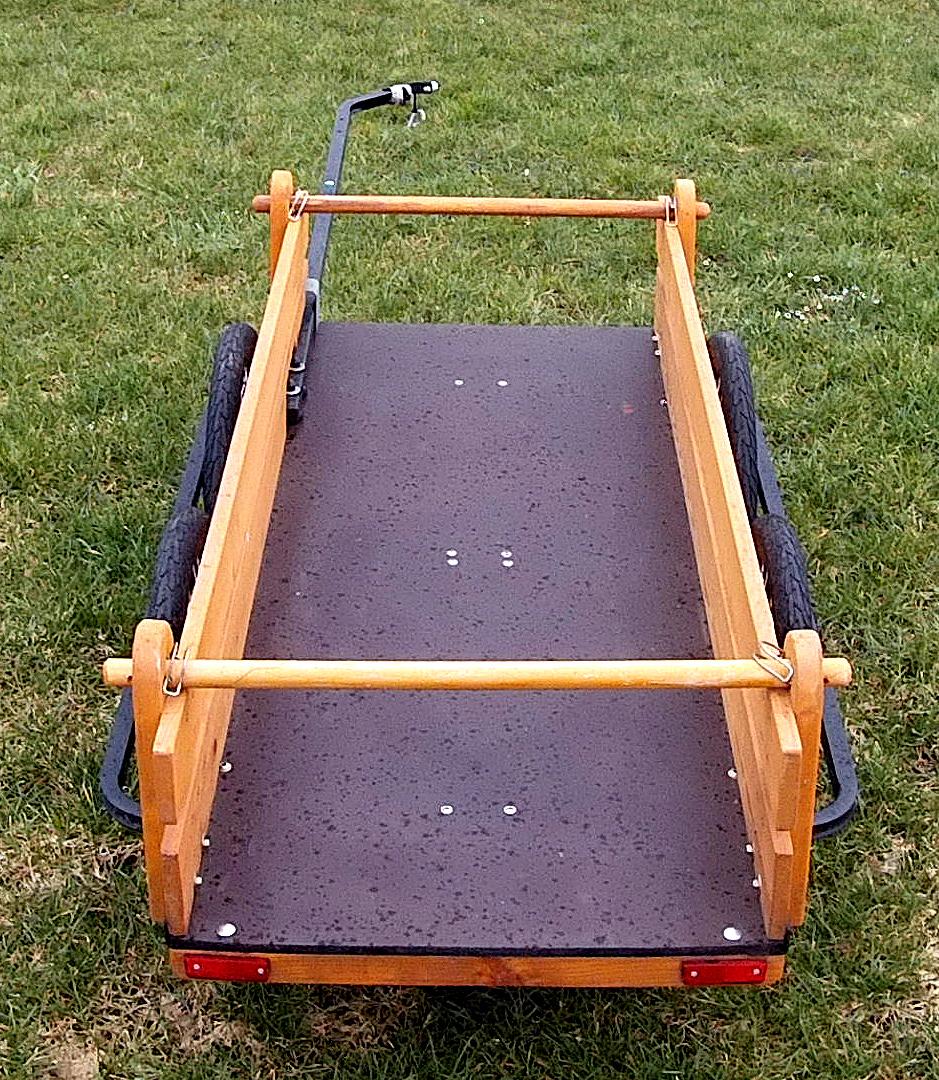 fahrradanhaenger mit bausatz grundrahmen und siebruckplatte